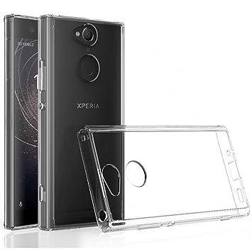 Electrónica Rey Funda Carcasa Gel Transparente para Sony Xperia XA2 Ultra, Ultra Fina 0,33mm, Silicona TPU de Alta Resistencia y Flexibilidad