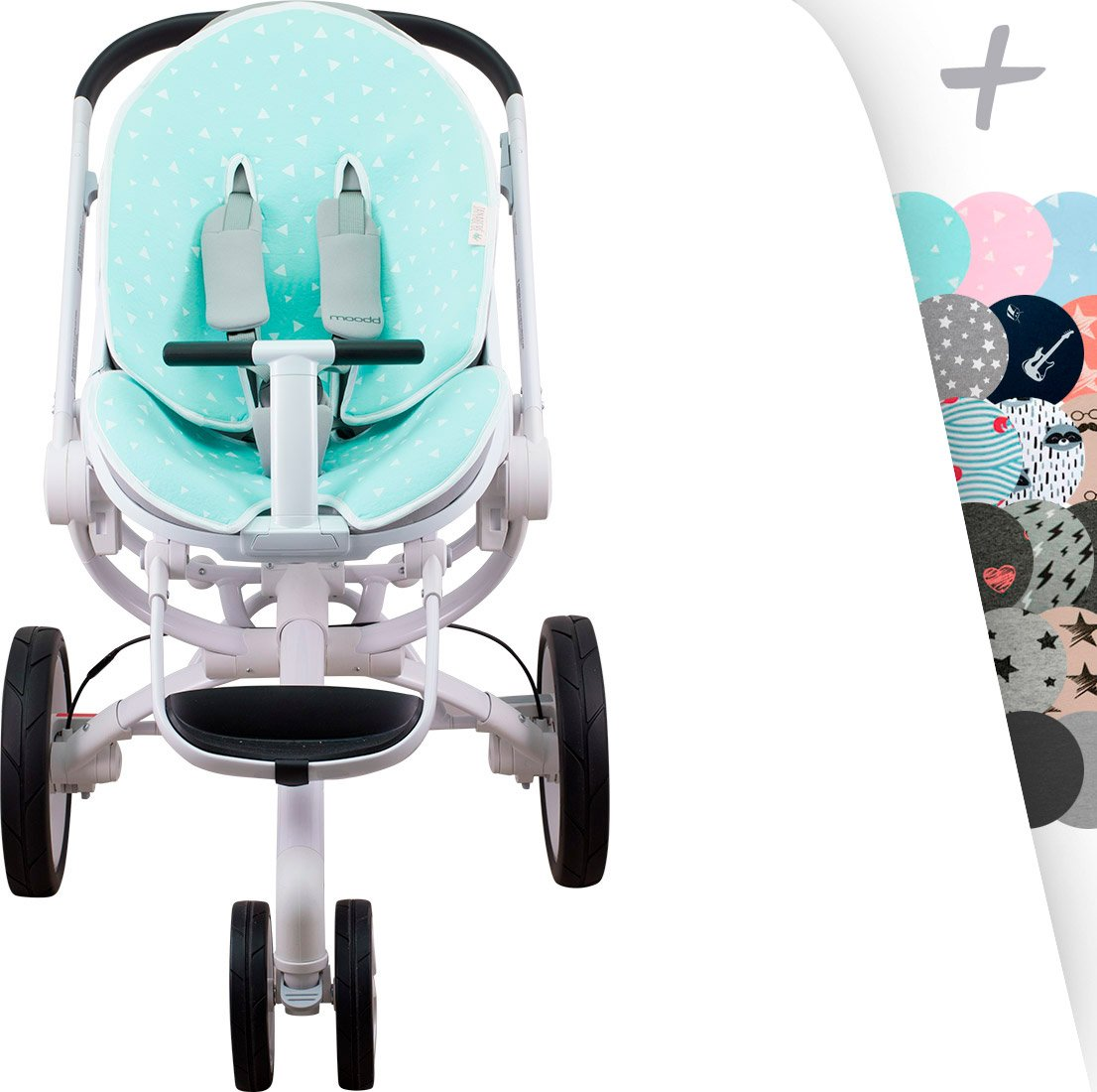 Mat for Quinny Moodd, Cam Cubo y Stokke and Cybex Priam Deluxe Janabebé (Black Series) JANABEBE