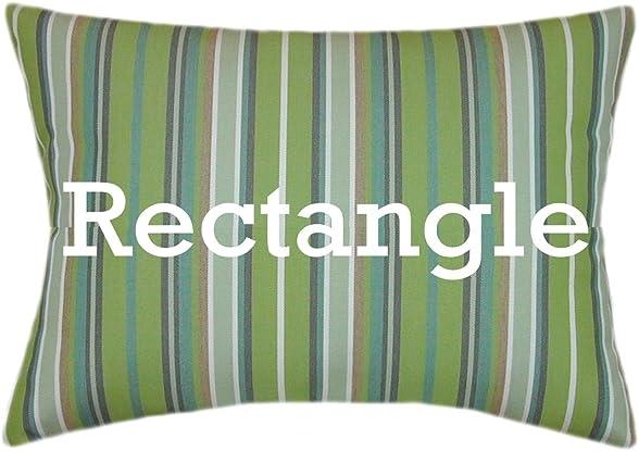TPO Design, Sunbrella Foster Surfside Indoor Outdoor Striped Patio Pillow 12×18 Rectangle
