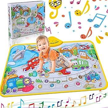 Amazon Com Musical Piano Mat Piano Keyboard Play Mat