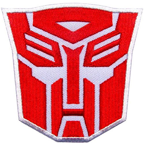 - Transformers Optimus Prime Autobots Logo Hot Red Embroidered Iron on Patch