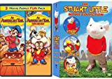 Pint-Sized Brave Mice Box Set Stuart & Fievel Family Animated Pack Stuart Little 1/2/3 Call Wild + American Tail / Go West DVD 5 Feature Mouse Movies