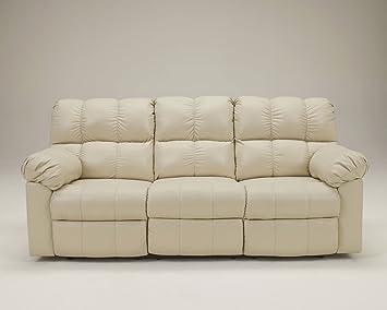 Ashley Kennard Leather Match Power Reclining Sofa In Cream