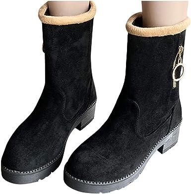 Berimaterry otas de Nieve Mujer,Botines para Adulto,Zapatos Otoño ...