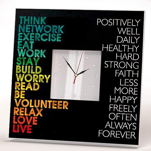 Success Motivational Inspirational Quotes Wall Clock Framed