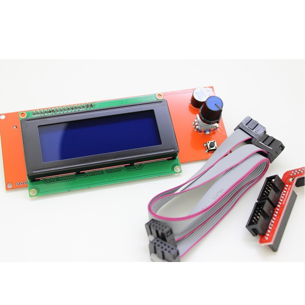 Display LCD Ramps 1.4 2004 para 3D Printer RepRap Adaptador