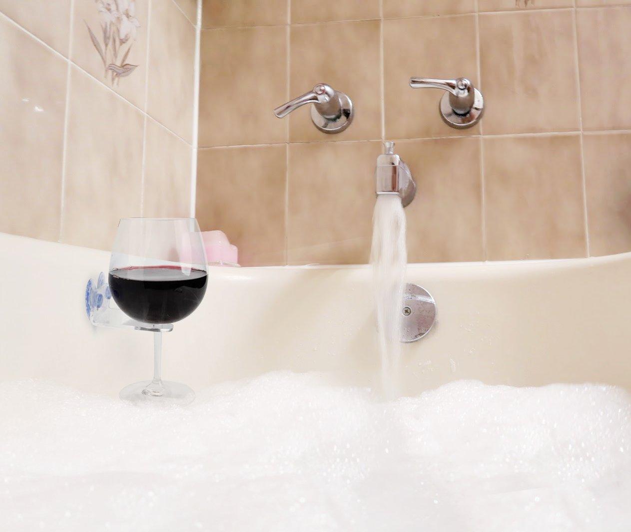 Bathtub Wine Glass Cupholder. Caddy Shower & Relax Bath With ...