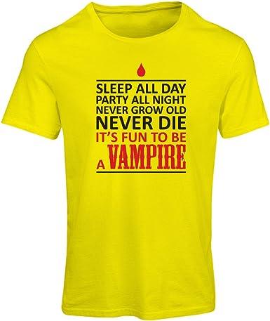 Camiseta Mujer Dormir Todo el día, Fiesta Toda la Noche, Nunca envejecer, Nunca Morir, es Divertido ser un Vampiro - Regalo de Humor: Amazon.es: Ropa y accesorios