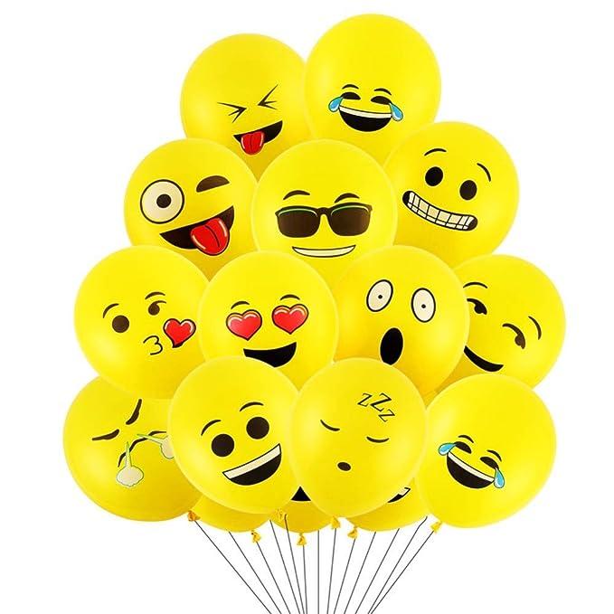 Globos de emojis divertidos para fiesta, boda, cumpleaños, y decoración.