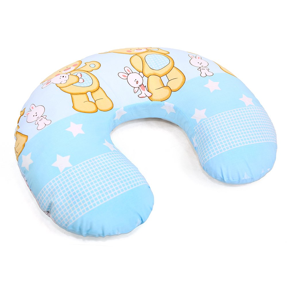 White hearts on red BABY BREAST FEEDING PILLOW NURSING MATERNITY PREGNANCY REMOVABLE COTTON COVER