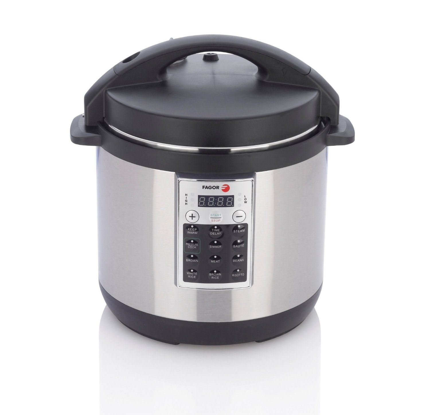 Fagor 670041930 Premium Electric Pressure and Rice Cooker, 6 quart, Silver