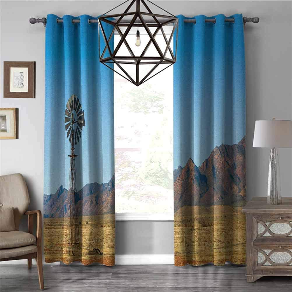 Amazon Com Neo Classical Curtains Windmillflinders Ranges South Australia Mountains Barren Land Summer Fashion Thermal Insulated Grommet Darkening Curtains Earth Yellow And Pale Blue W96 X L84 Inch Home Kitchen