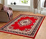 Cheap Furnish my Place Traditional Oriental Medallion Area Rug Persian Style Carpet Maharaja 611, Red