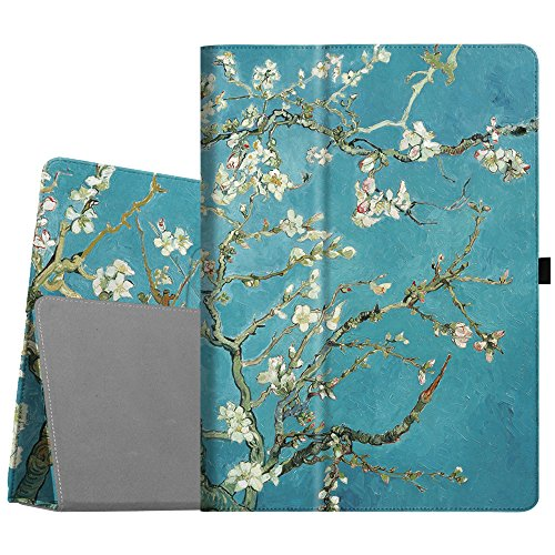 Fintie iPad Pro 12.9 Case - [Corner Protection] Premium PU Leather Folio Smart Protective Cover with Auto Sleep / Wake, Multi-Angle Viewing for iPad Pro 12.9 2nd Gen 2017 / 1st Gen 2015, Blossom