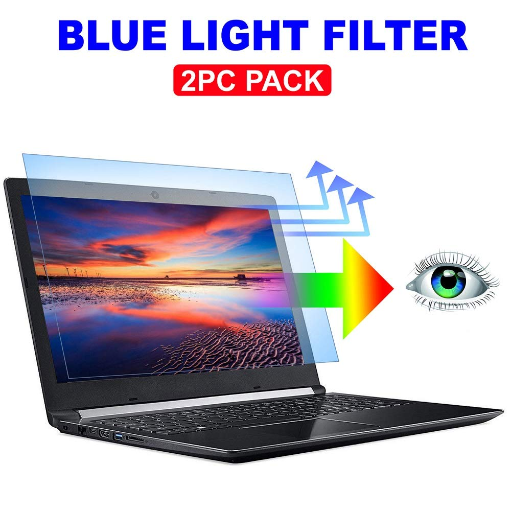 2PC Pack 15.6 inch Blue Light Blocking Laptop Screen Protector, Blue Light Filter for Notebook Computer Screen 15.6'' Display 16:9
