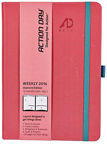 Price comparison product image Action Day 2016 Diamond Edition Journal Red / Pink,  6 x 8 Inches