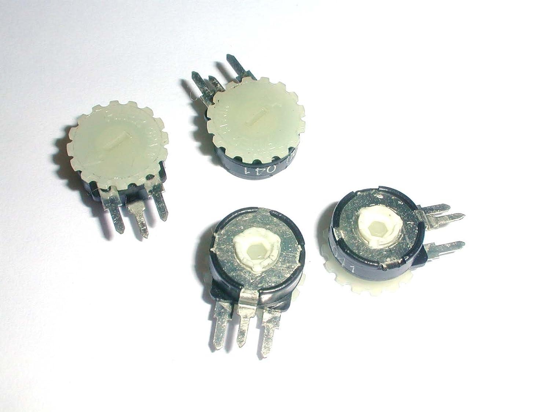 PT10YH01-106A2020 Trimmer Potentiometer 10MEG ohms .15 Watt Thumbwheel Adjust Vertical PC Board Mount 4 pieces