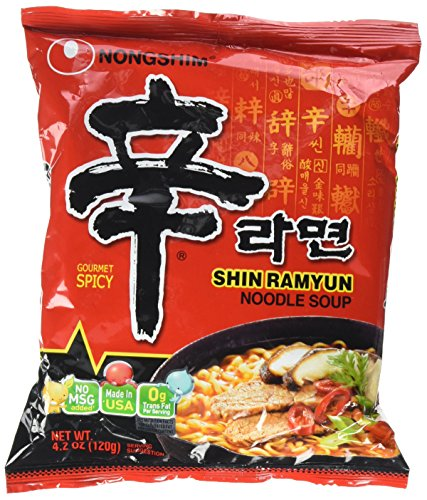 Shin Ramyun Hot Spicy Noodle Soup (Nong Shim-Gourmet Spicy) for 20 Bags by Nong Shim ()