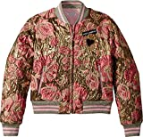 Dolce & Gabbana Kids Girl's Blouson (Big Kids) Gold Print 10