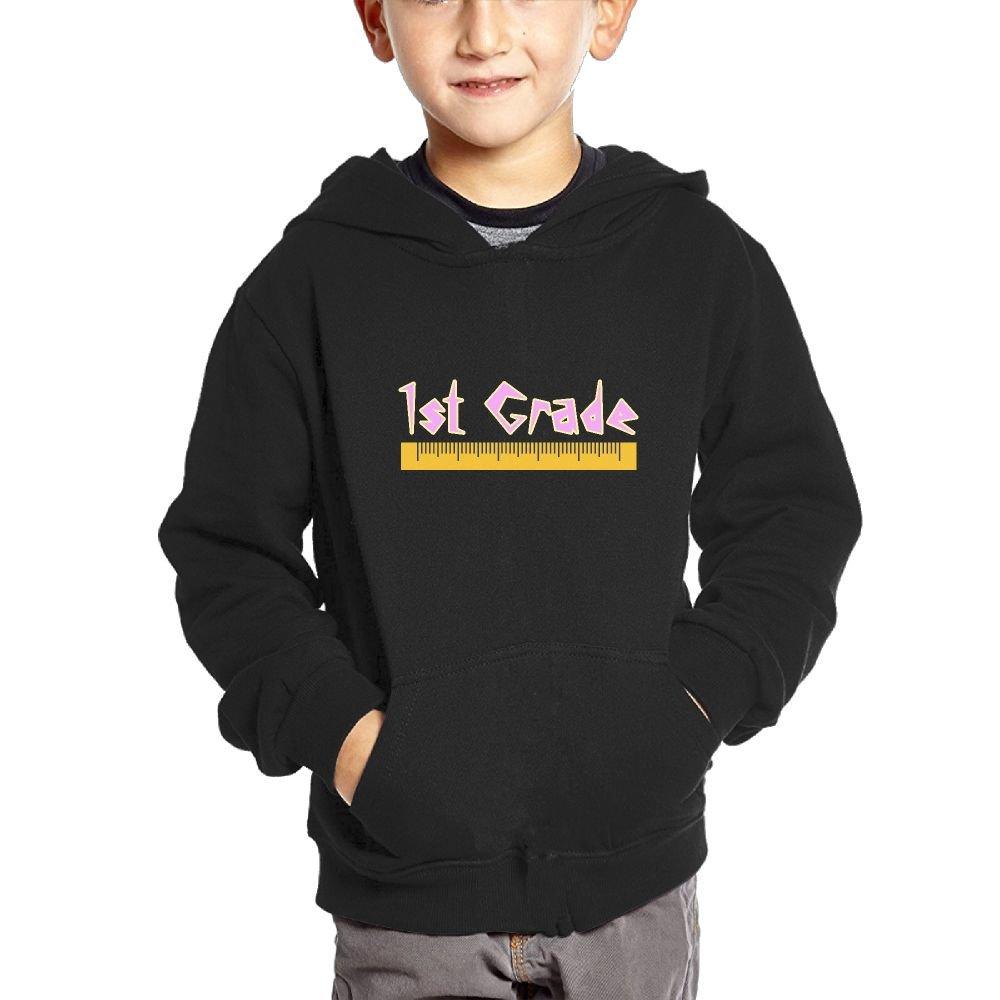 Small Hoodie 1st Grade Funny Boys Graphic Sweatshirt Pullover Hoodie