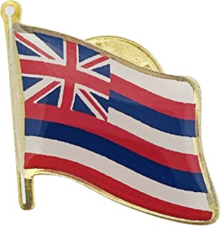 product image for Set of 6 Hawaii Single Waving State Flag Lapel Pin - Made in The USA