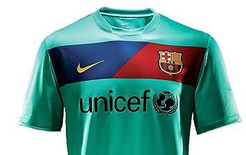Nike Camiseta FC Barcelona 2ª Equipación 2010/11 Verde Agua (XL): Amazon.es: Deportes y aire libre