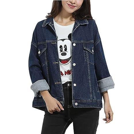 jeans jacket Chaqueta De Mezclilla_Nueva De Las Mujeres De ...