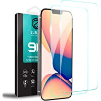 """[2 Pack] ZUSLAB Screen Protector for Apple iPhone 13 Pro Max 6.7"""" Tempered Glass Film Case Friendly 9H Hardness - Clear"""