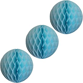 product image for 3-pack 5 Inch Honeycomb Tissue Paper Balls (Light Blue)