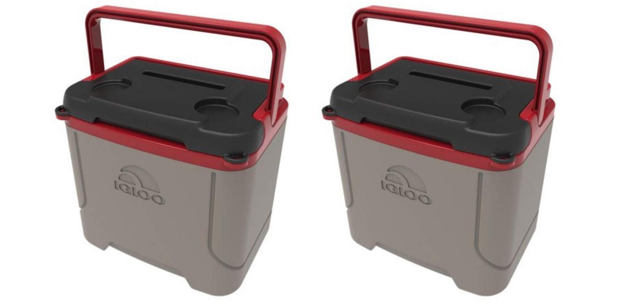 Igloo Profile 16 Quart Cooler -Sandstone/Blaze Red(Pack of 2)