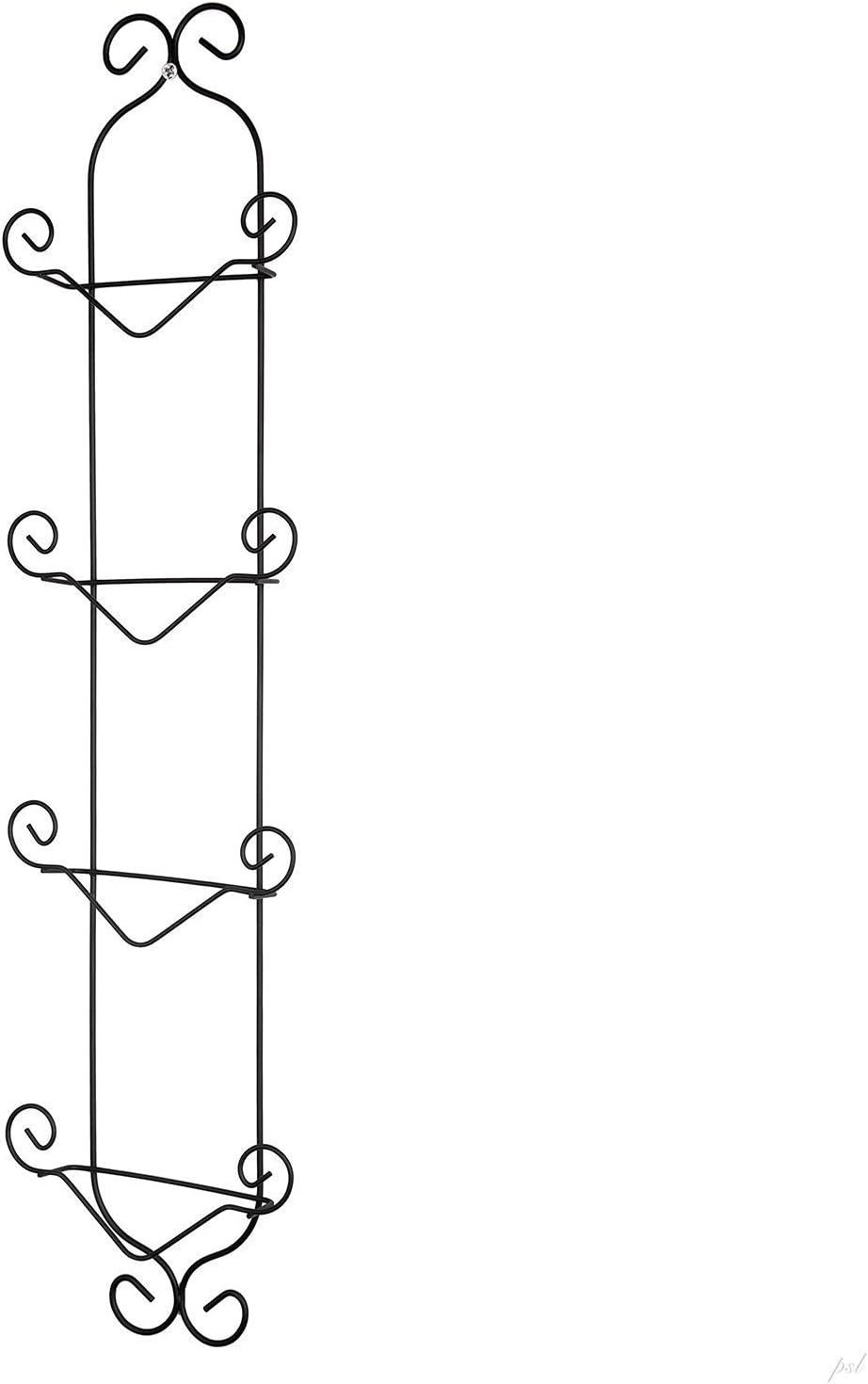 Economy 4 Tier Black Vertical Plate Wall Rack