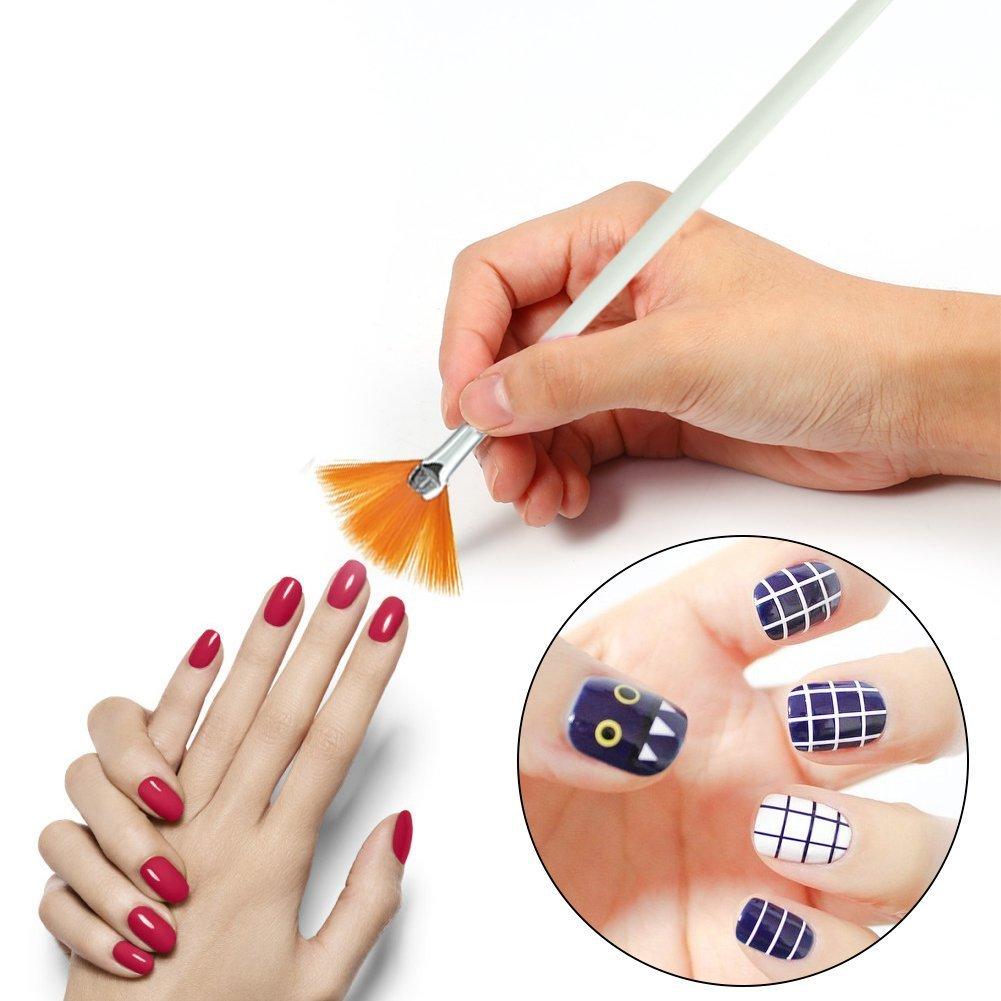 20 Stück Professional Nail Art Pen Pinsel, Designing Malerei ...