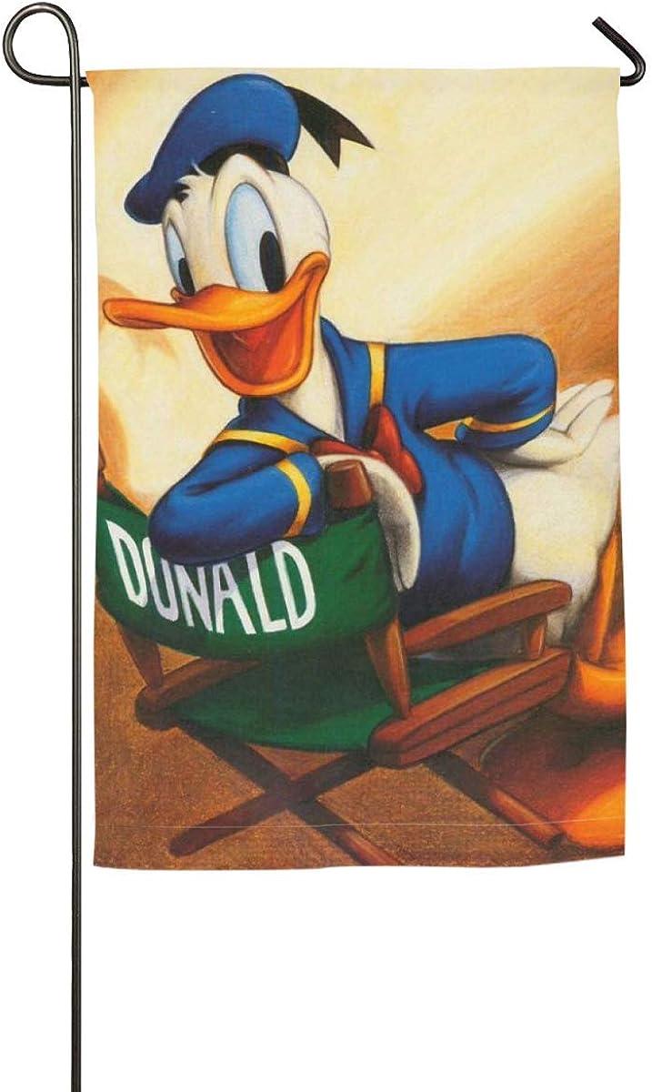 Donald Duck Garden Flags -Vertical Single Seasonal Garden Decor Flags House Flag for Outdoor Yard 12 X 18 Inch / 18 X 27 Inch - 12 ashion Black