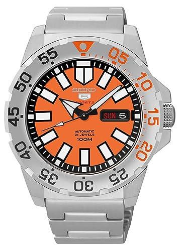 Seiko SRP483 - Reloj de automático para hombre, con correa de acero inoxidable, color metalizado: Amazon.es: Relojes