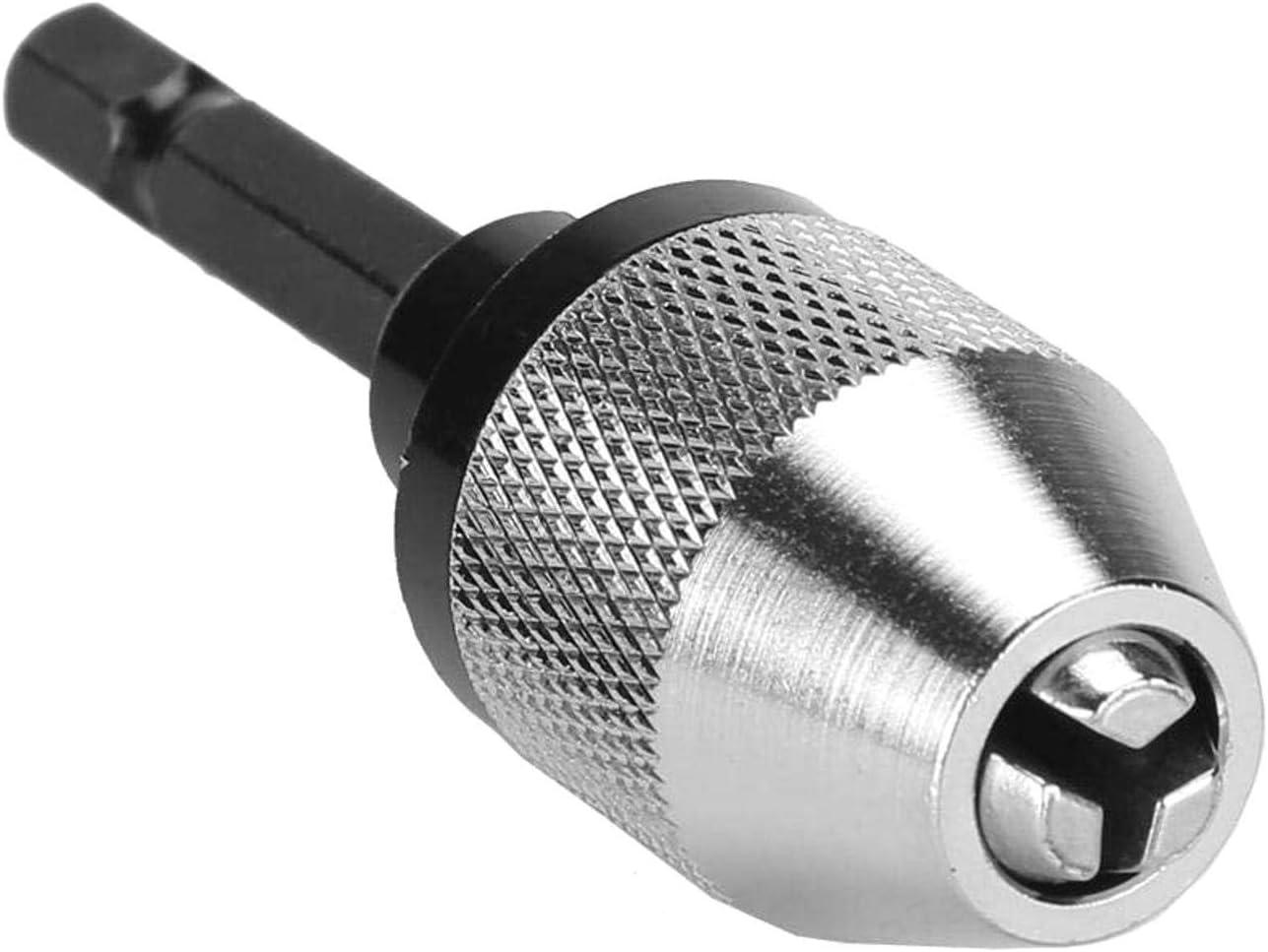 SALAKA Destornillador el/éctrico de v/ástago Hexagonal de 6,5 mm Adaptador de portabrocas Portabrocas convertidor de Cambio r/ápido Portabrocas H01335