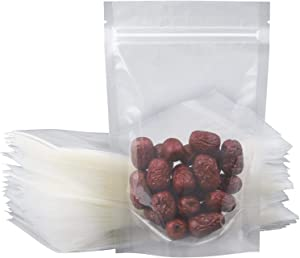 Thicken Food Storage Plastic Mylar Bags (Clear, 5.1 inch x 7.9 inch, Set of 100)