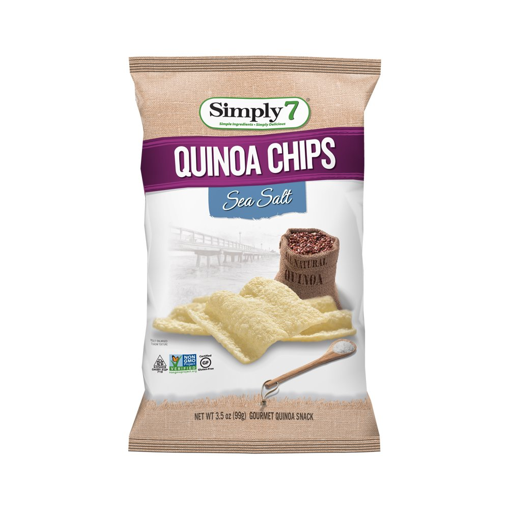 Simply7 Gluten Free Quinoa Chips, Sea Salt, 3.5 Ounce (Pack of 12)