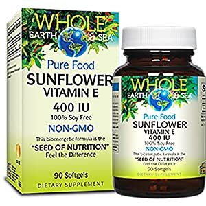 Whole Earth & Sea Sunflower Vitamin E 400 IU, 90 Soft Gels