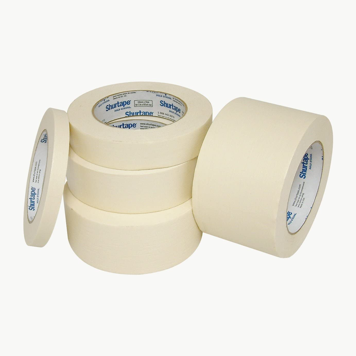 "Shurtape Cp-83/Nat160 Cp-83 Utility Grade Masking Tape: 1"" X 60 Yd, Natural"