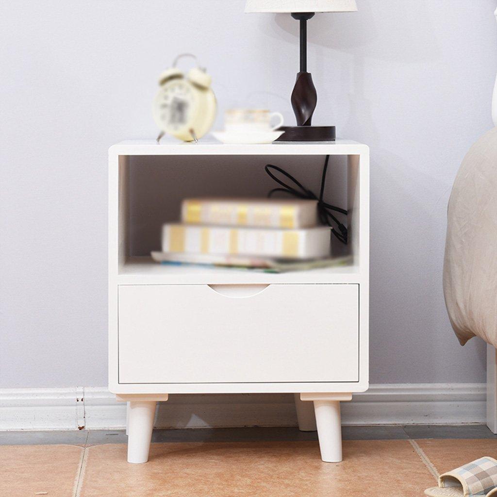 LI JING SHOP - Meubles en bois massif Tables de chevet Chambre de simplicité moderne Chambre Armoire de rangement
