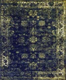 Unique Loom 3137816 Sofia Collection Traditional Vintage Beige Area Rug, 8' x 10' Rectangle, Navy Blue