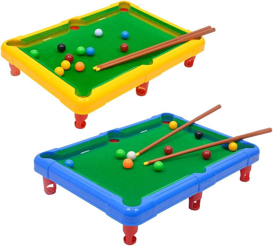 YeahiBaby Mini Billar de Madera para Juego de Mesa de Bolas para Niños Adultos (Color al Azar): Amazon.es: Juguetes y juegos