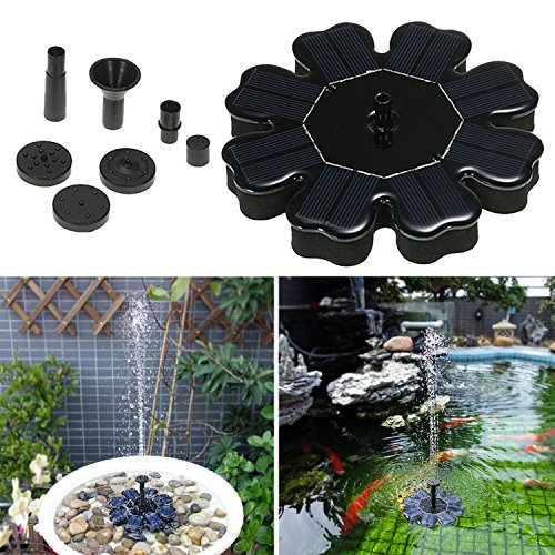 Topjack Outdoor Solar Fountain Pump Panel Kit - 1.6W Sun Powered Floating Water Fountain Pump - Bird Baths Pool Pond Garden Patio Decoration by topjack