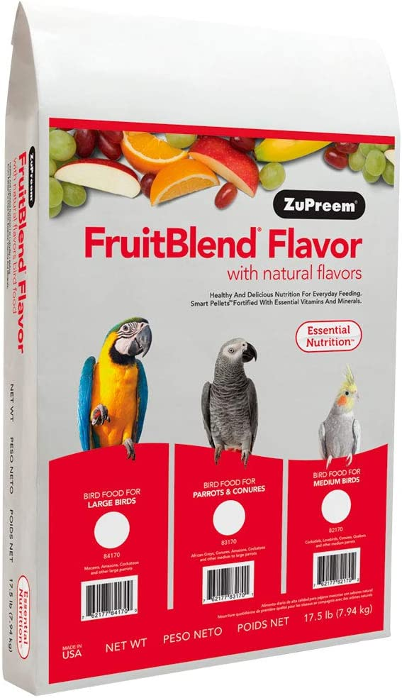 ZuPreem AvianMaintenance FruitBlend Bird Diet for Large Birds 17.5 pounds
