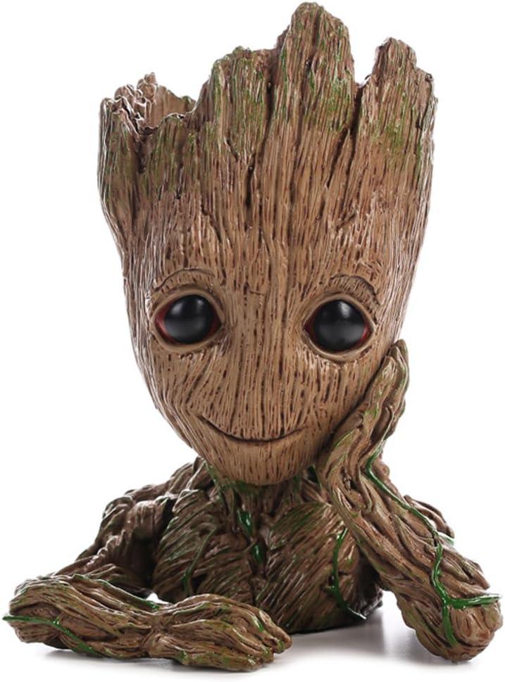 HEYFAIR Treeman Baby Groot Star-Lord Pen Cactus Succulent Planter Pot Container Multifunction Desk Organizer Accessories