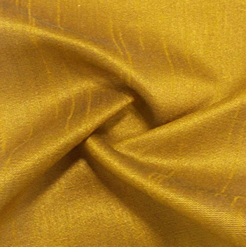 "Poly Dupion Silk 44"" Inches Wide Mustard Yellow Solid Pattern Fabric for Sewing Crafting Home Decor By The Yard (Fabric Silk Dupion)"