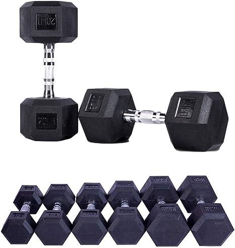 AKT Mancuernas Hexagonales de Goma 1 PC - 2.5kg a 15kg Inicio ...