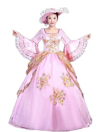 Amazon.com: Zukzi Women\'s Plus Size Elegant Recoco Victorian Dress ...