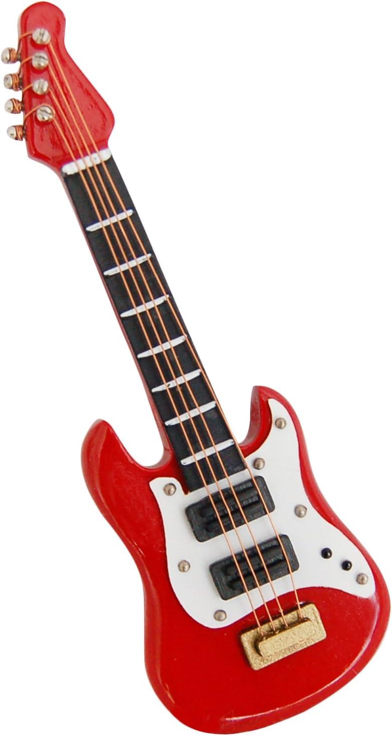 1:12 Dollhouse Miniature Musical Instrument Bass Guitar Wooden Handmade Craft