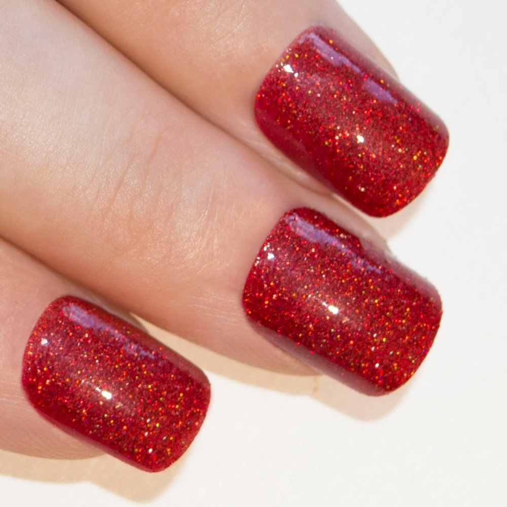 Amazon.com : Bling Art False Nails French Manicure Red for Danger ...
